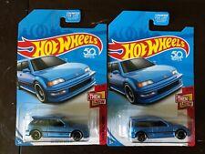hot wheels kday blue honda civic ef lot of 2