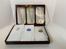 Vintage Omega Handkerchiefs – 3 Pc Set Monogram B embroidery Never Used
