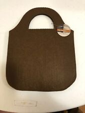 Felt Flat Brown Bag