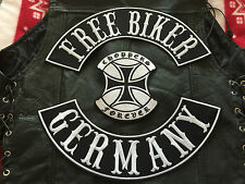 Free Biker Germany Choppers Forever komplettes Set MC  Chopper  ohne Kutte