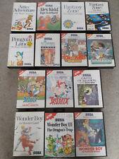 14 Sega Master System Spiele - Wonder Boy, Asterix, Alex Kidd