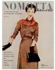 Nomotta #112 c.1953 - Ruban d'Art, Gorgeous Fashion Patterns in Knitting Ribbon