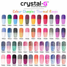 Holographic Colour Changing Soak off UV LED GEL Nail Polish T24 by Crystal-g