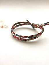 Liberty Fabric Handmade Double Wrap Bracelet Summer Friendship Birthday Gift