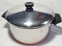 REVERE WARE1801 4 1/2 Qt Quart Stock Pot & Lid Stainless Steel Copper Bottom  d5