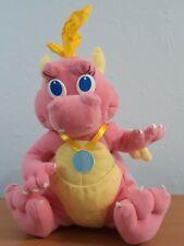 Dragon Tales Cassie Plush Dinosaur Stuffed Pink Wings 1999 Playskool Hasbro Dino