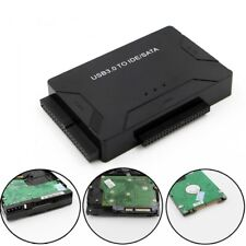 USB 3.0 to SATA IDE ATA Data Power Adapter 3 in 1 for PC Laptop Disk Driver.UK