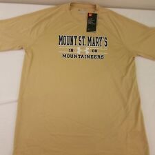 Nwt Under Armour Men's Beige Mount St. Mary's Heat Gear Athletic Shirt Large