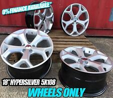 "4X18"" HYPERSILVER WHEELS ONLY 5X108 SNOWFLAKE ST STYLE MONDEO FOCUS CONNECT NEW"