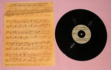 """Acetate  THE LOVE SONG OF TOM JONES (10 """" ACETATE & SHEET MUSIC) FROM 1963 MOVIE"""