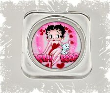 Betty Boop, Square Glass Coaster Gift, Limited Edition | Cellini Plaques #1