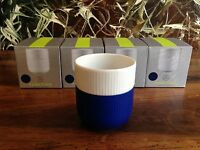 ROYAL COPENHAGEN Contraste A CÔTES - tasse café en Mega Bleu