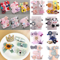 5/6Pcs/set Lovely Hairpin Kids Baby Girl Hair Clip Bow Flower Mini Barrettes