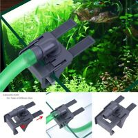 PVC Aquarium Tank Water Pipe Clamp Hose Tube Rod Fixing Clip Mount Fixed Holder