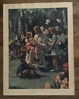 """Print Antique Vintage Harry Anderson """"What Happened To Your Hand""""Jesus Children"""