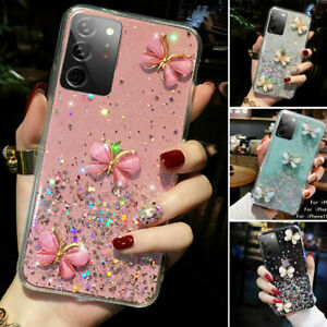 Bling Glitter Butterfly Cute Case Cover For Samsung Galaxy S21/Ultra/S21/S21Plus