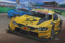 Canvas Timo Glock battles with Gary Pafett DTM Hockenheim by Toon Nagtegaal