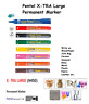 Pentel Permanent Marker Pen- Medium Tip for Metal Wood Glass Stone Fabric
