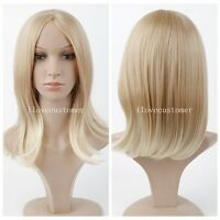 Women's New Long Mix Blonde Fashion Wig Sexy Straight  Natural Hair Cosplay Wigs