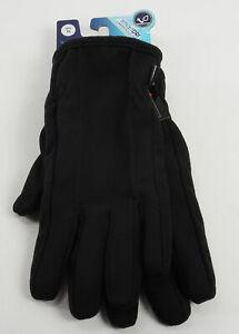 New Isotoner Smart Touch Mens XL Black Fleece Water Resistant Touchscreen Gloves