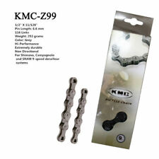 KMC Z99 Gray MTB Road Bike Chain 116Links 9Speed Bicycle Chain Magic Button Gray