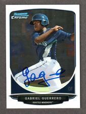 2013 BOWMAN CHROME BCP 91  Gabriel Gabby Guerrero  MARINERS SIGNED AUTOGRAPH COA