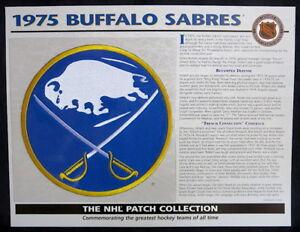 1975 BUFFALO SABRES ~ Willabee & Ward NHL THROWBACK HOCKEY TEAM LOGO PATCH Card