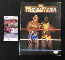 Hulk Hogan & Mr. T Signed WWF Wrestlemania I Program JSA Authenticated COA WWE