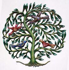 "Colored Tree of Life Metal Wall Art Fair Trade Home Decor Handmade Wall Art, 24"""
