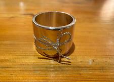 Vera Wang Silver Plated Love Knots Napkin Rings Set of 4