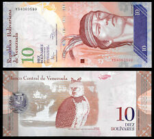 World Paper Money - Venezuela 10 Bolivares 2014  Series Y8 @ Crisp UNC
