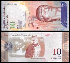 World Paper Money - Venezuela 10 Bolivares 2014  Series Y8 @ Crisp UNC