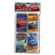 Cars Mini Spiral Notepads 4-pack