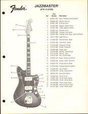 VINTAGE AD SHEET #3581 - FENDER GUITAR PARTS LIST - TELECASTER 11-1300