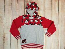 Disney Boys Mickey Mouse Printed Hoodie Sweatshirt Jacket Size 9/10 New