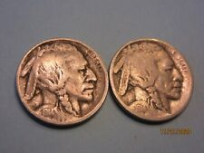 1914 & 1914-S Buffalo Nickel nice very good coins