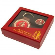 More details for liverpool fc premier league champions fob & pin badge set in nice gift box xmas
