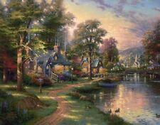 Thomas Kinkade S/N HOMETOWN LAKE  24 x 30 Canvas Rare