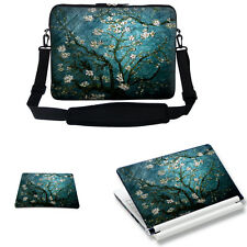 "17"" 17"" Laptop Sleeve Bag Case w Shoulder Strap & Matching Skin Mouse Pad 3005"
