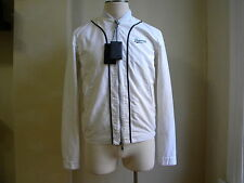 DSQUARED² VERY RARE WHITE & TRIM ZIP SPORT JACKET COAT S 50 M MADE IN ITALY