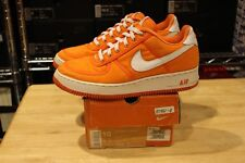 2001 Nike Air Force 1 Canvas Safety Orange 624020 811 Size 10 Off White Moma Lot
