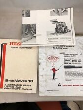 Hesston Farm Equipment StakMover 10 Illustrated Parts Listing & Operator'sManual