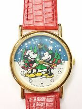 Rare Mickey & Minnie Mouse Xmas Carol In The Snow Disney Credit Card Watch