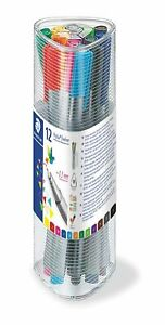 Staedtler Triplus Fineliner Pen Set,Pack Of 12Assorted Colours(0.3MM Line Width)