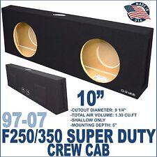 97-07 FORD F250 & F350 SUB BOX SUBWOOFER BOX SHALLOW SPEAKER BOX GROUND-SHAKER