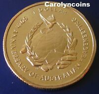 """1 Dollar 2007 """" 60th Anniversary of Australian Peacekeeping """" $1 Coin in card"""