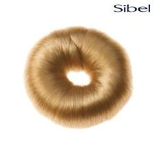 SIBEL Hair Donut Hairdressing Bun Ring - With Synthetic Hair - BLONDE