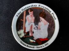 """Norman Rockwell """" Girl At The Mirror """" Miniature Plate With Box & Stand"""