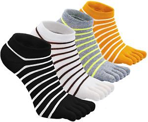 Toe Socks for Women Five Finger Socks Running Socks with Toes Cotton Sport 4/5