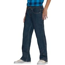 Faded Glory Boys Relaxed Jeans Dark Stone Size 5 Adjustable Waist NEW